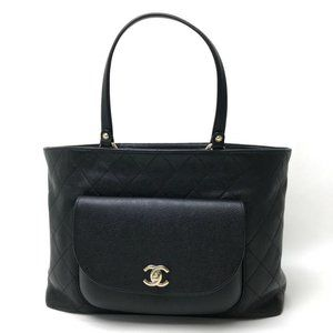 CHANEL CC Matelasse Tote Bag Shoulder Bag Black